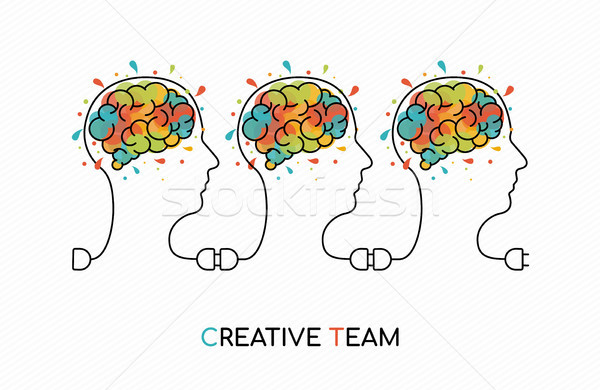 Creative business team work ideas concept art Stock photo © cienpies