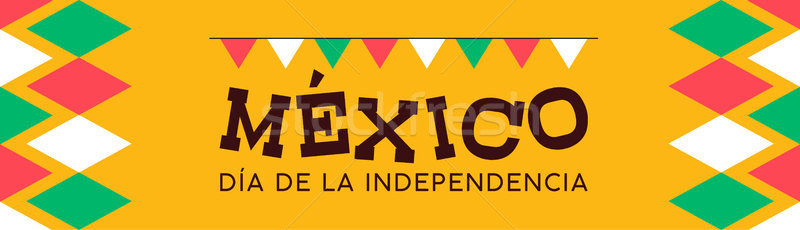 Mexico independence day banner background Stock photo © cienpies