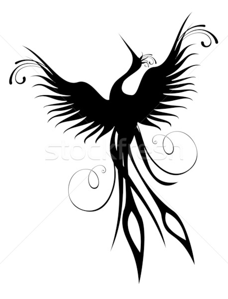 Phoenix bird figure isolated Stock photo © cienpies