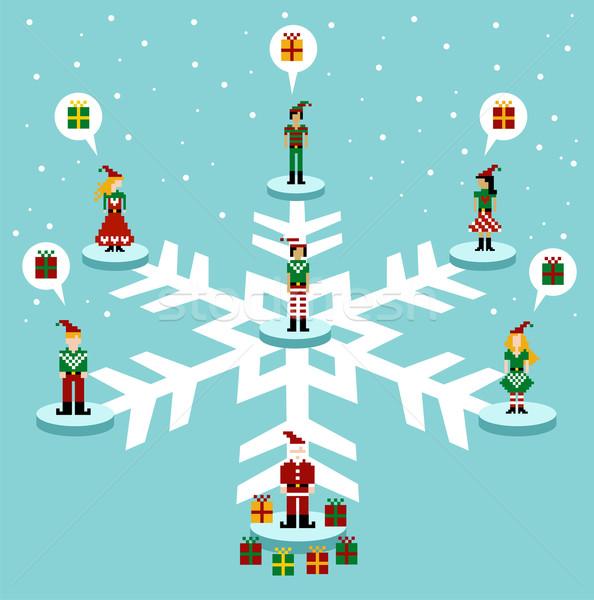 Christmas: social media network  Stock photo © cienpies