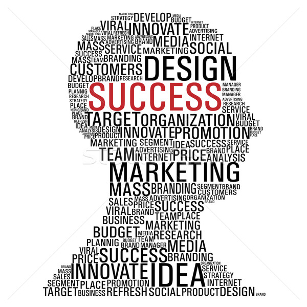 Marketing success head communication Stock photo © cienpies