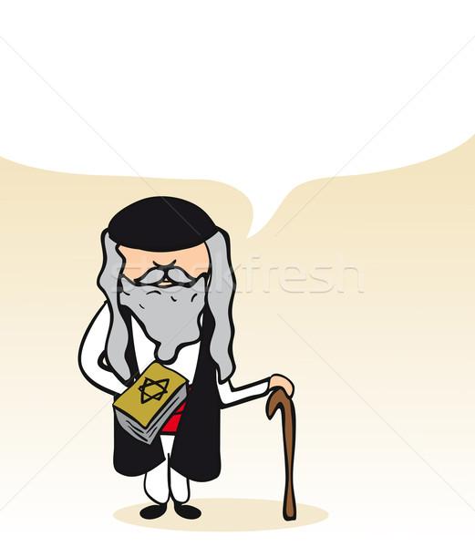 Jewish cartoon man social bubble  Stock photo © cienpies