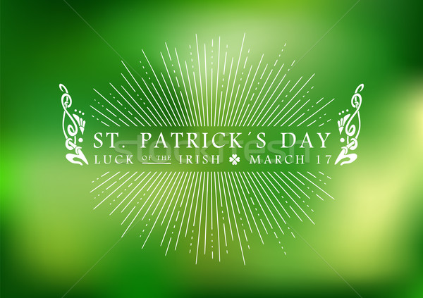 St Patricks day vintage label background Stock photo © cienpies