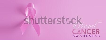 Zdjęcia stock: Rak · piersi · świadomość · wstążka · banner · tekst · różowy