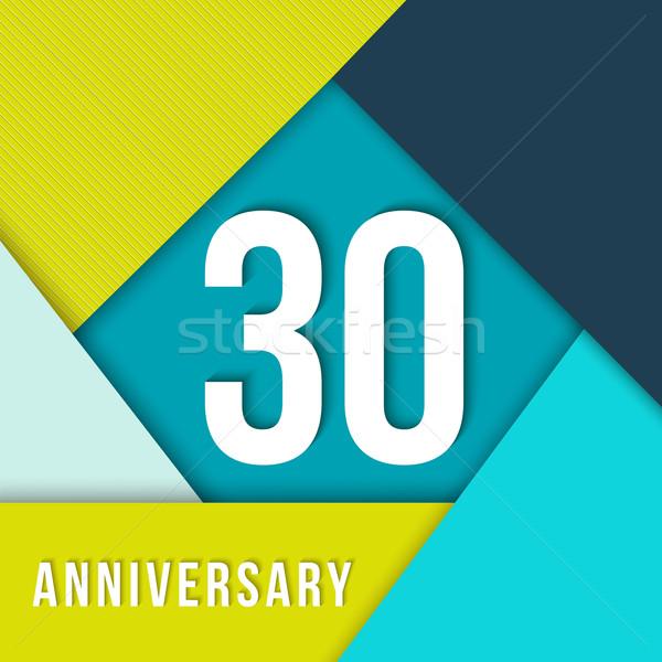 30 год летию материальных дизайн шаблона тридцать Сток-фото © cienpies