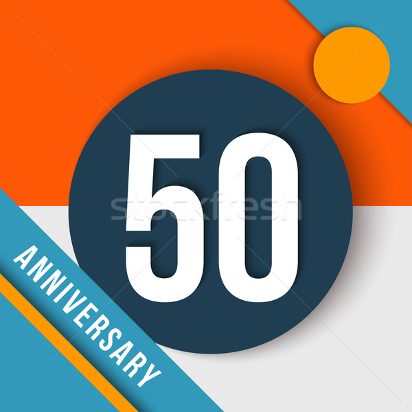50 year anniversary material design concept Stock photo © cienpies