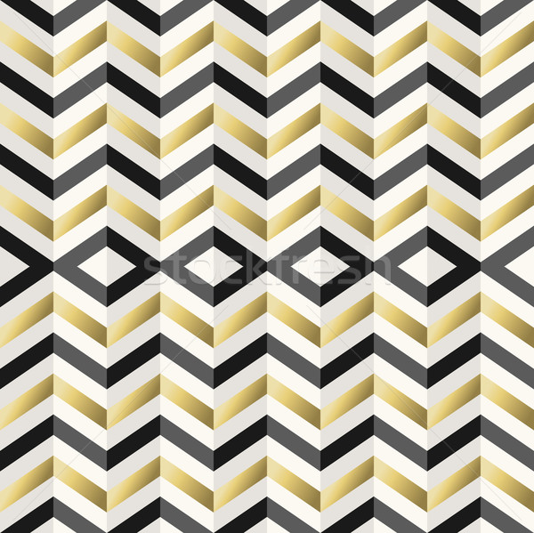 Vintage hipster rhombus background in gold  Stock photo © cienpies