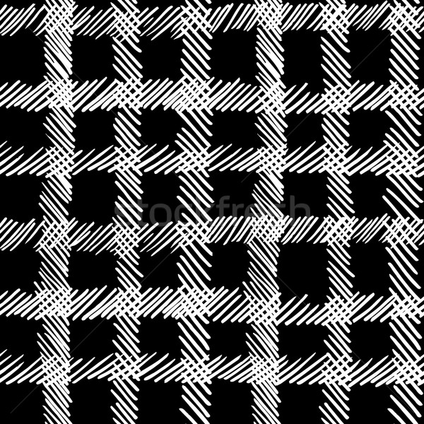 Boho geometric black and white seamless pattern Stock photo © cienpies