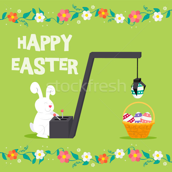 Happy Easter greeting card for spring  Stock photo © cienpies
