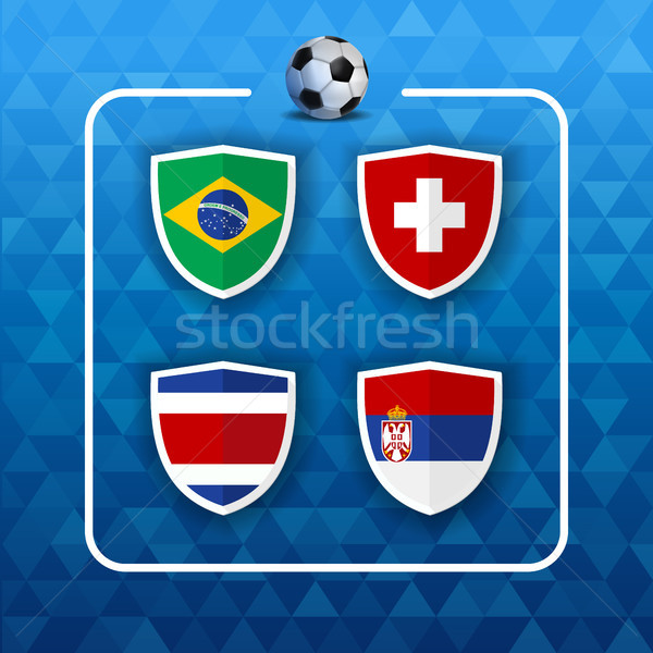 Group country teams for russian soccer event  Stock photo © cienpies