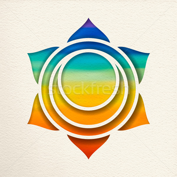 Svadhisthana sacral chakra design for yoga  Stock photo © cienpies