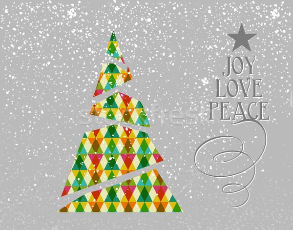 Foto stock: Alegre · Navidad · colorido · árbol · forma · resumen