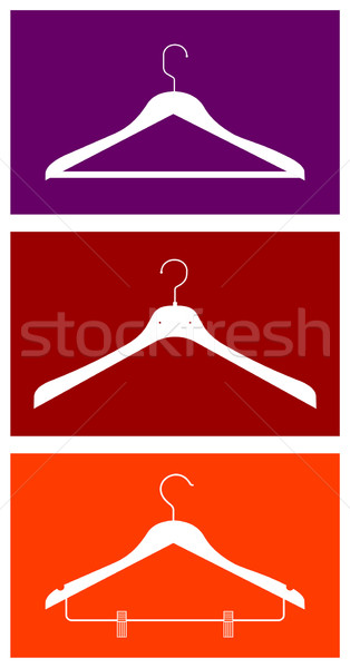 Clothes hangers Stock photo © cienpies