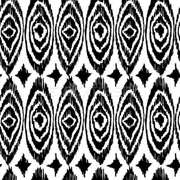 Preto e branco ético arte retro monocromático Foto stock © cienpies