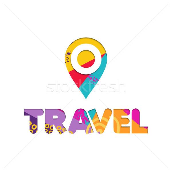 Férias de verão viajar cor texto citar Foto stock © cienpies