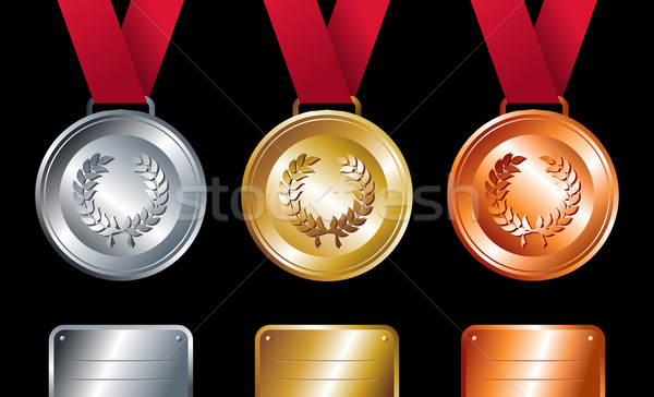 Sport winners: Gold, silver and bronze medals Stock photo © cienpies