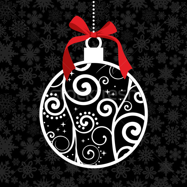 Elegant Christmas hang bauble  Stock photo © cienpies