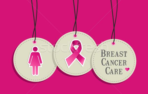 Рак молочной железы ухода осведомленность набор вектора Сток-фото © cienpies