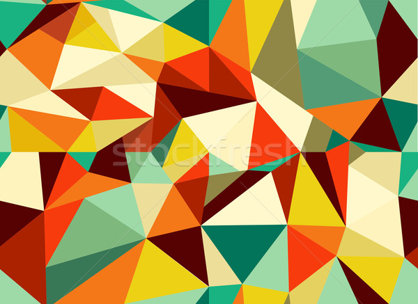 Trendy vintage geometric seamless pattern Stock photo © cienpies