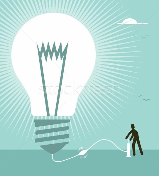 Big idea concept illustration Stock photo © cienpies