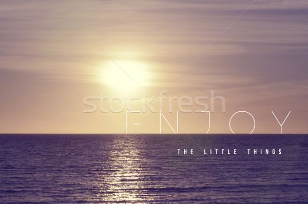 Enjoy quote concept summer sunset background Stock photo © cienpies
