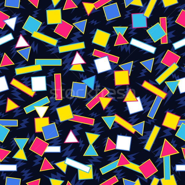 Retro 80s geometric pattern background Stock photo © cienpies