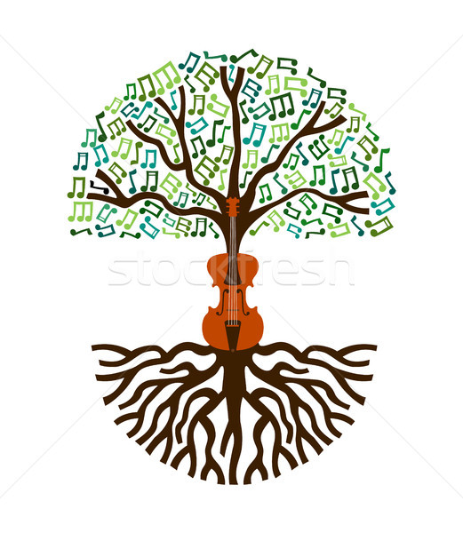 Classical music tree nature concept illustration Stock photo © cienpies