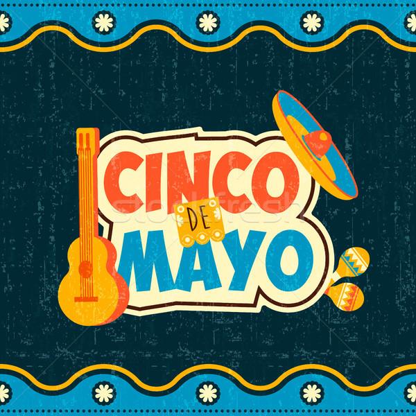 мексиканских майонез типографики цитировать плакат вечеринка Сток-фото © cienpies