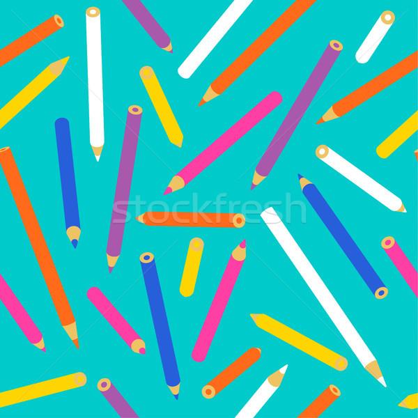 ストックフォト: 色鉛筆 · 学用品 · 芸術 · 装飾 · テクスチャ