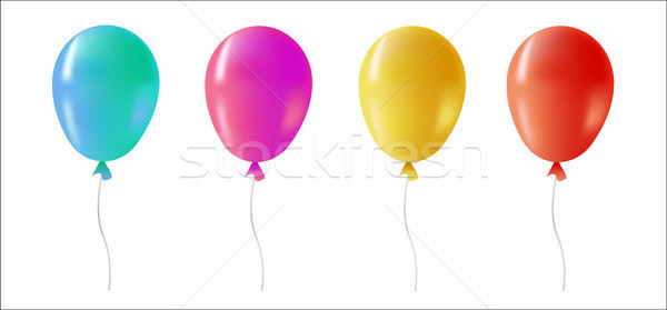 Color helium balloon set for party event Stock photo © cienpies