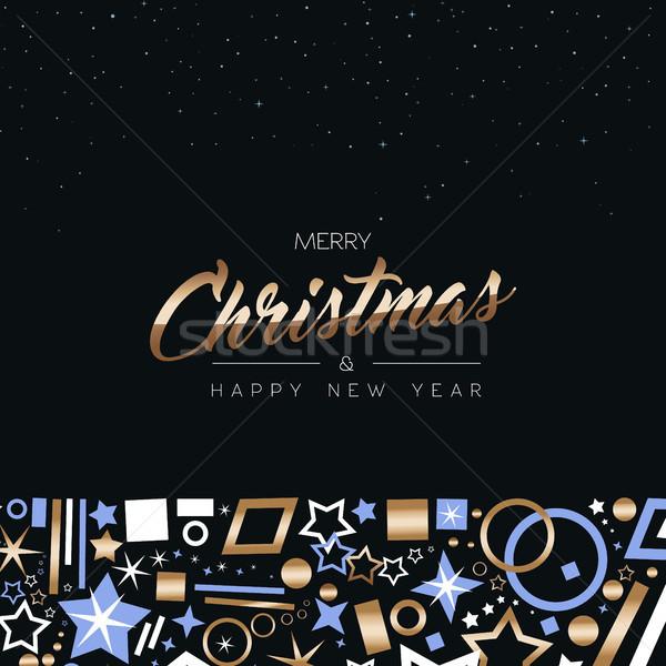Stok fotoğraf: Noel · yılbaşı · bakır · dekorasyon · ikon · kart