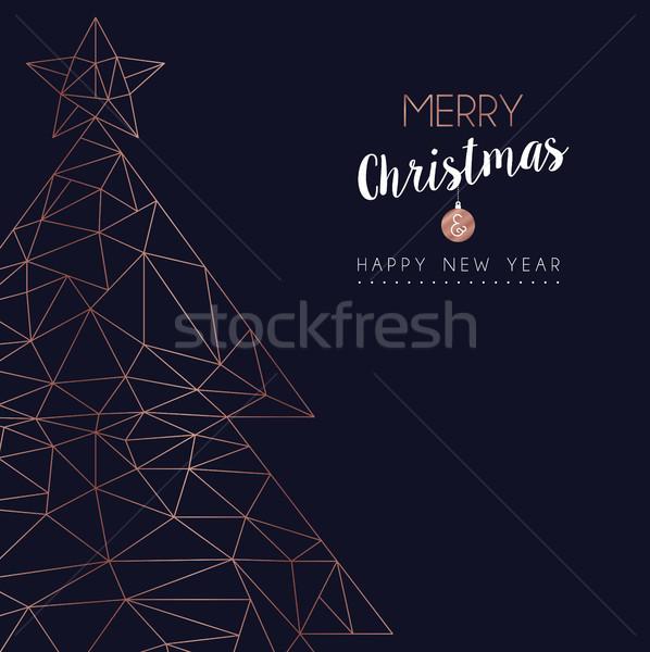 Stok fotoğraf: Noel · yılbaşı · soyut · noel · ağaç · kart