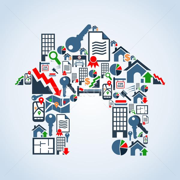 Próprio casa propriedade serviço imóveis Foto stock © cienpies