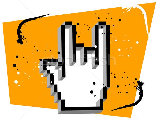 Mão cursor metal música gesto Foto stock © cienpies