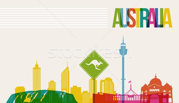 Viajar Austrália destino linha do horizonte famoso Foto stock © cienpies
