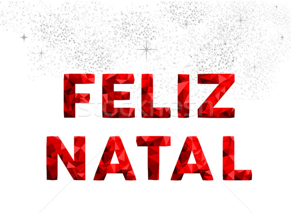Merry Christmas typography in portuguese language Stock photo © cienpies