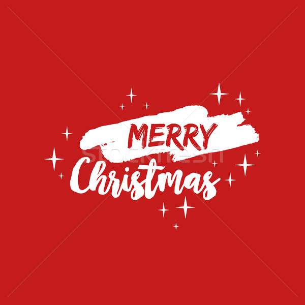 Merry christmas text quote lettering illustration Stock photo © cienpies