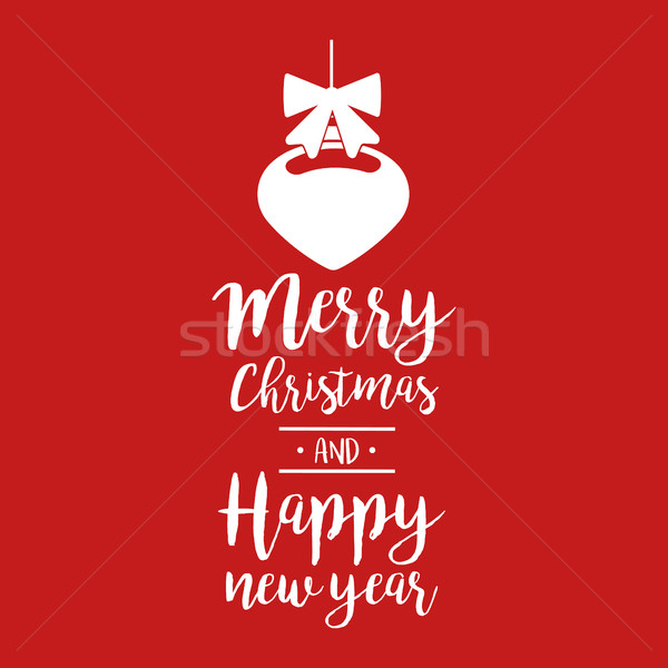 Christmas quote calligraphy bauble illustration Stock photo © cienpies