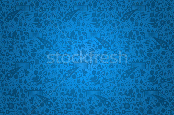 Russian culture icon blue background template Stock photo © cienpies