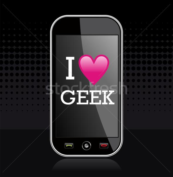 I love geek illustration Stock photo © cienpies