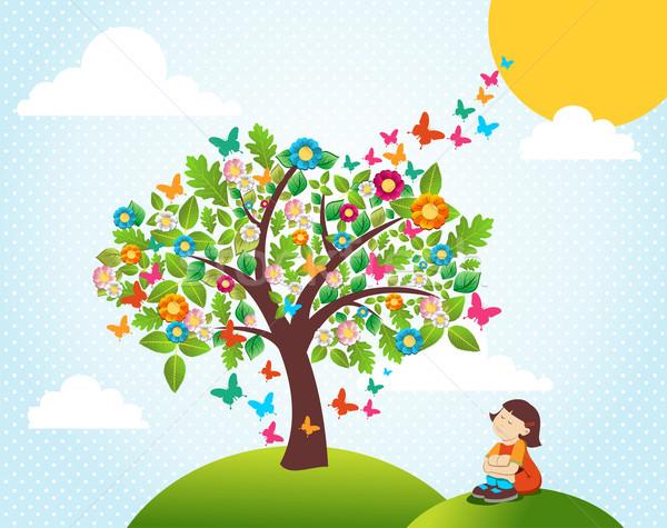 Сток-фото: весны · время · дерево · пейзаж · Cute · цветы