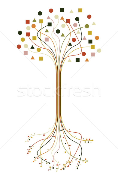 Abstract roots and branches tree set Stock photo © cienpies