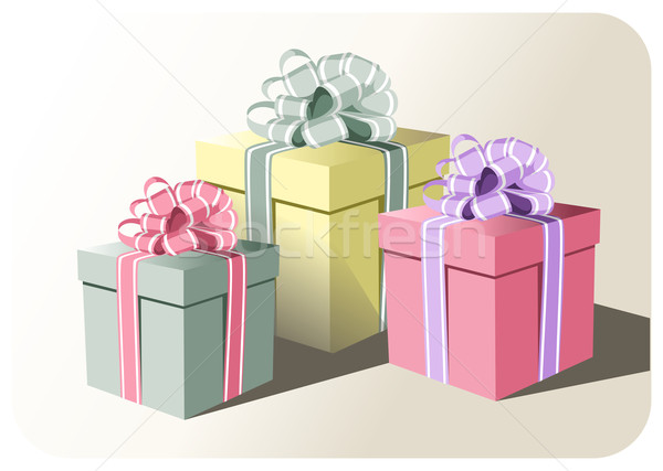Gift boxes Stock photo © cienpies