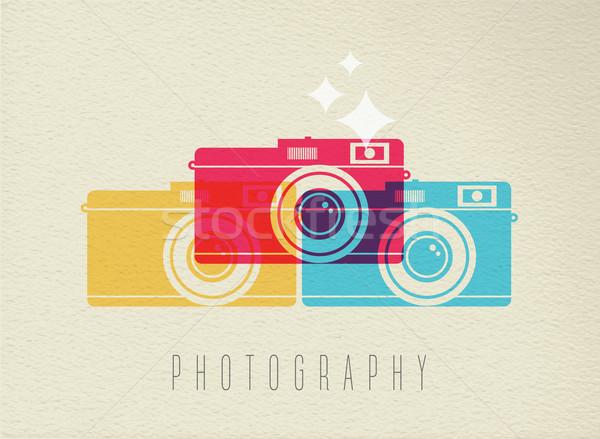 写真 カメラ アイコン 色 デザイン 実例 ストックフォト © cienpies
