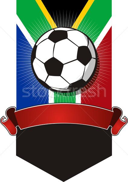 Sudáfrica fútbol campeonato banner bandera fútbol Foto stock © cienpies