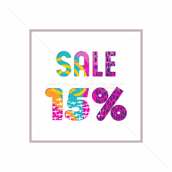 Sale 15% off color quote for business discount Stock photo © cienpies