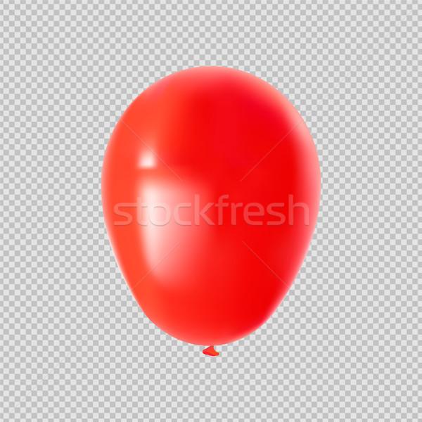 красный гелий вечеринка шаре изолированный прозрачный Сток-фото © cienpies