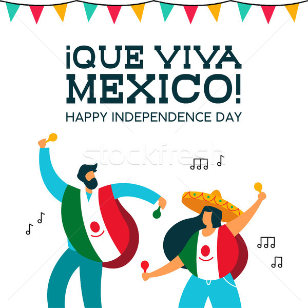 Stock photo: Mexico Independence Day mexican people at party