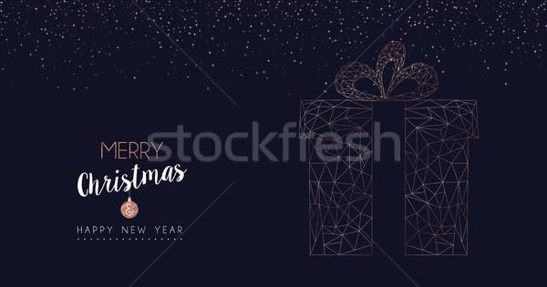 Stok fotoğraf: Noel · yılbaşı · soyut · hediye · web · afiş