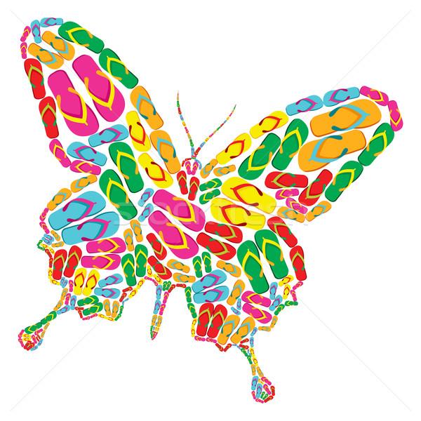 Flip flops butterfly Stock photo © cienpies